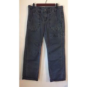 Free People Dark Grey Straight Leg Jeans Size 8